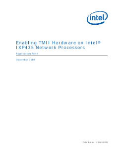 Turbo MII Hardware on IXP435 Network Processor Application Note