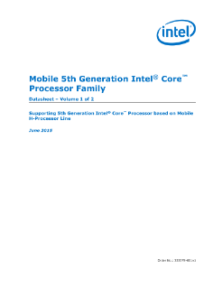 Mobile 5th Gen Intel® Core™ Processor Family Datasheet, Vol.