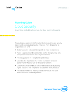 Planning Guide: Cloud Security