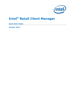 Intel® Retail Client Manager: Quick Start Guide
