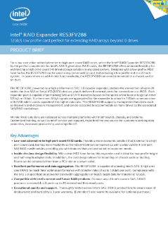 Intel RES3FV288 RAID Expander Driver for Windows Mac