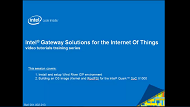 Video: Intel® Gateway Solutions for the IoT Setup IDP and Build OS